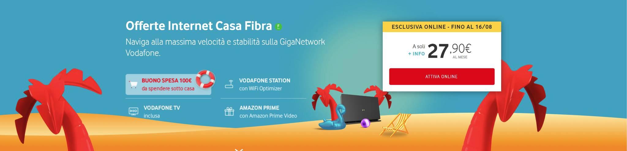 offerta vodafone unlimited fibra