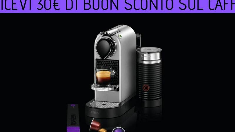 Buy a Nespresso machine and receive a 30 € discount voucher on coffee