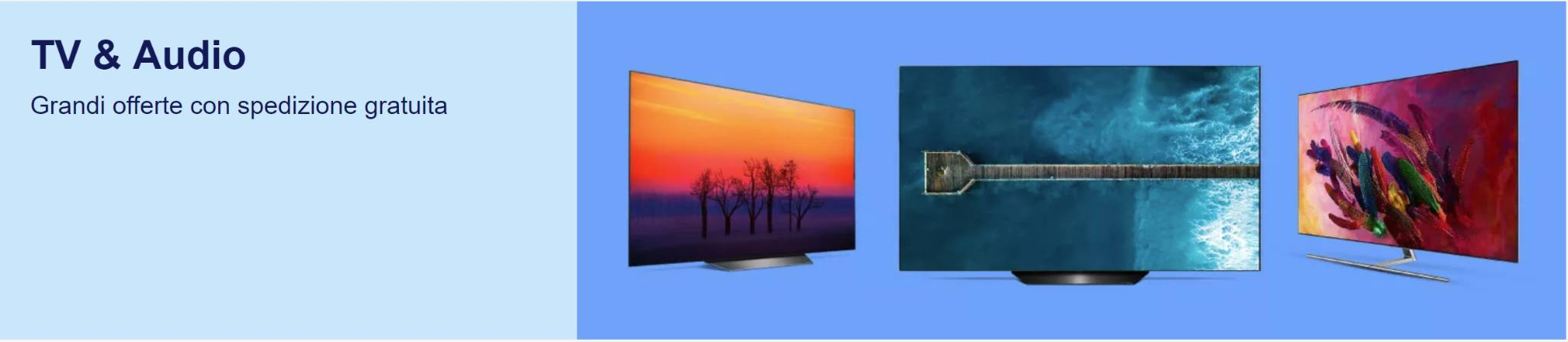offerte tv e soundbar ebay