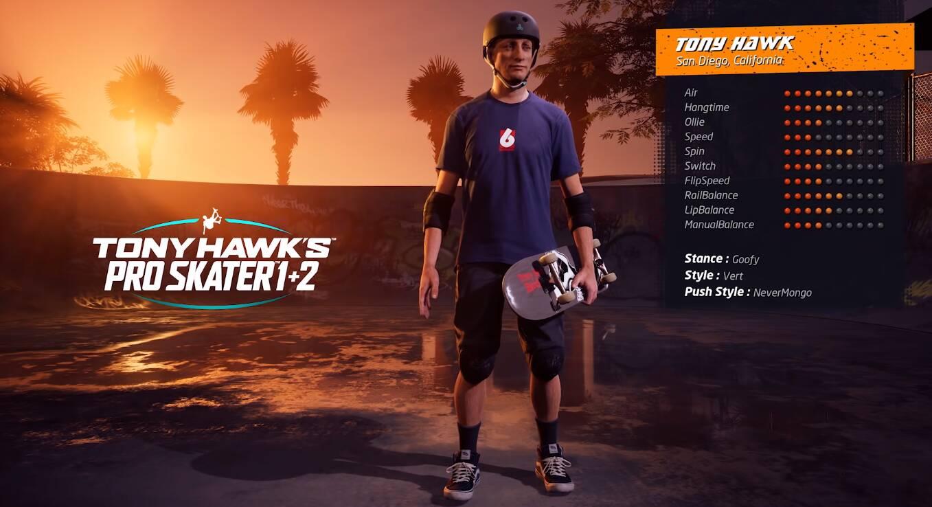 Tony Hawk Pro Skater 1 and 2 Remastered