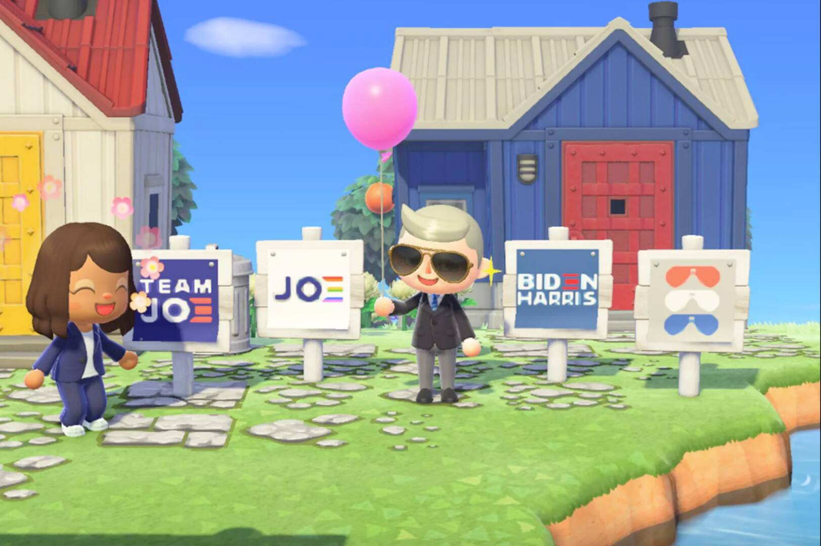 Animal Crossing New Horizons Biden-Harris USA Presidenziali