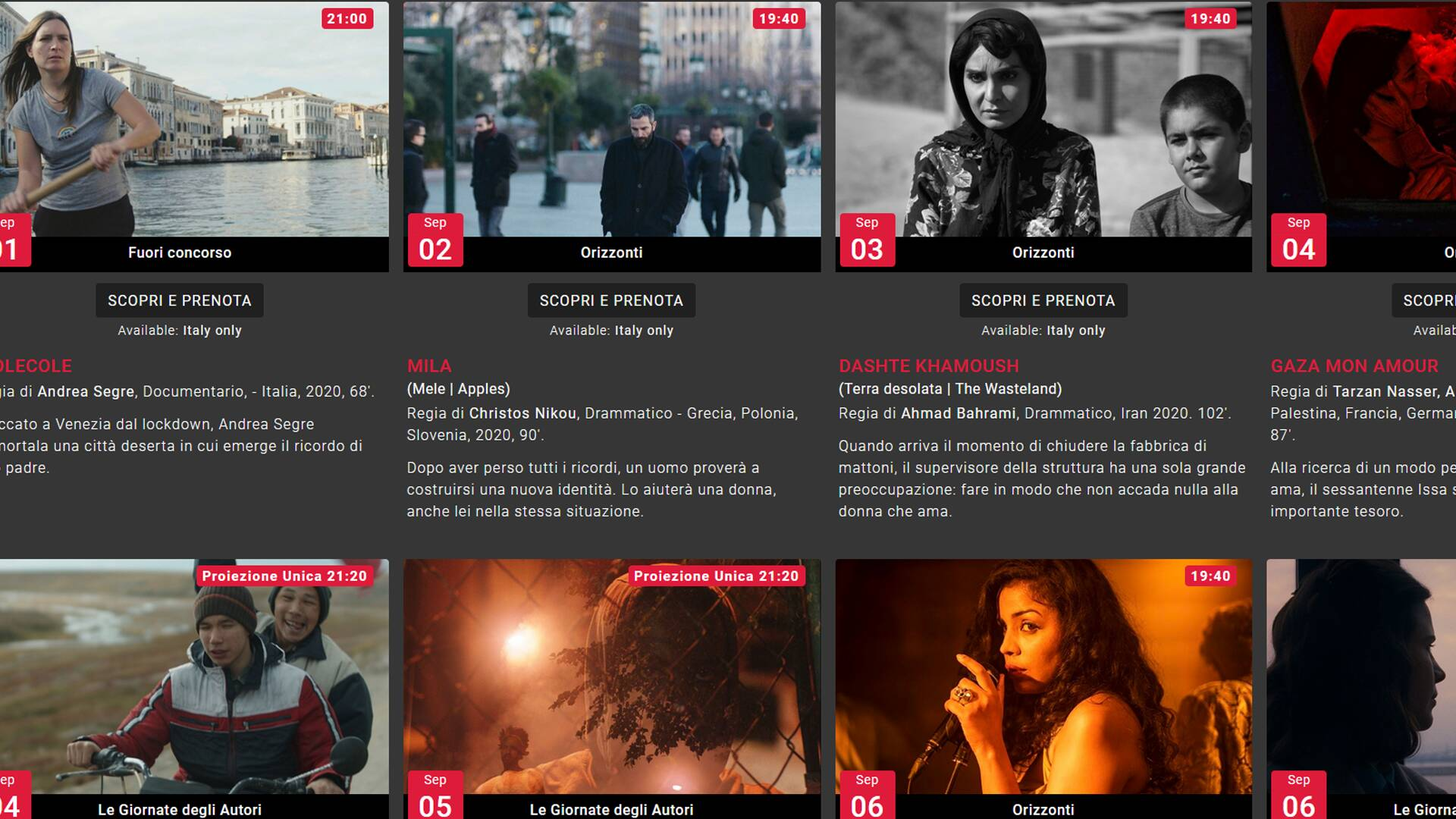 Mostra del Cinema di Venezia in streaming
