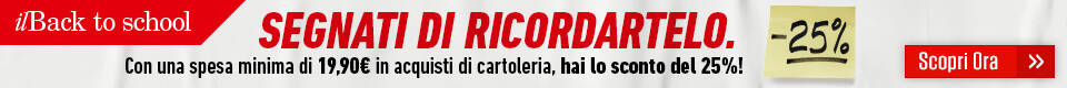 promo feltrinelli cartoleria  banner