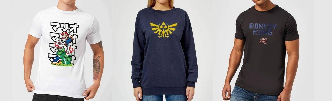 t-shirt nintendo in offerta su zavvi