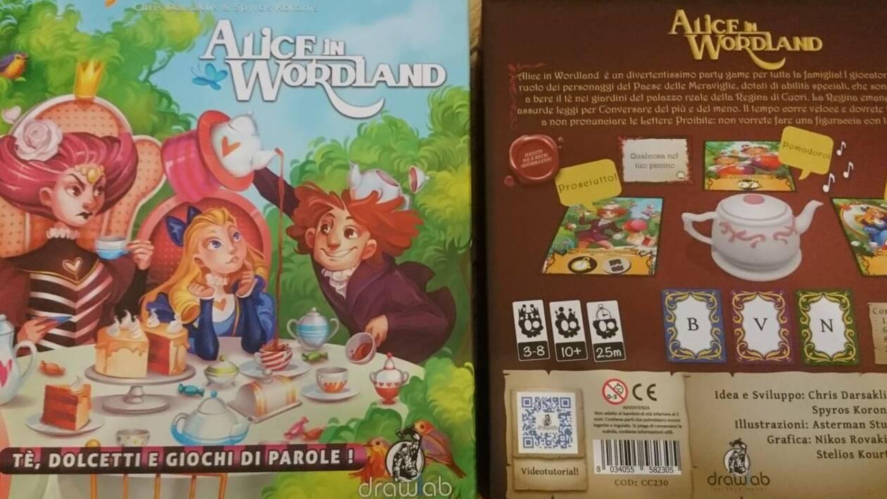 ALICE IN WONDERLAND in italiano Party game Cranio Creations gioco da tavolo per
