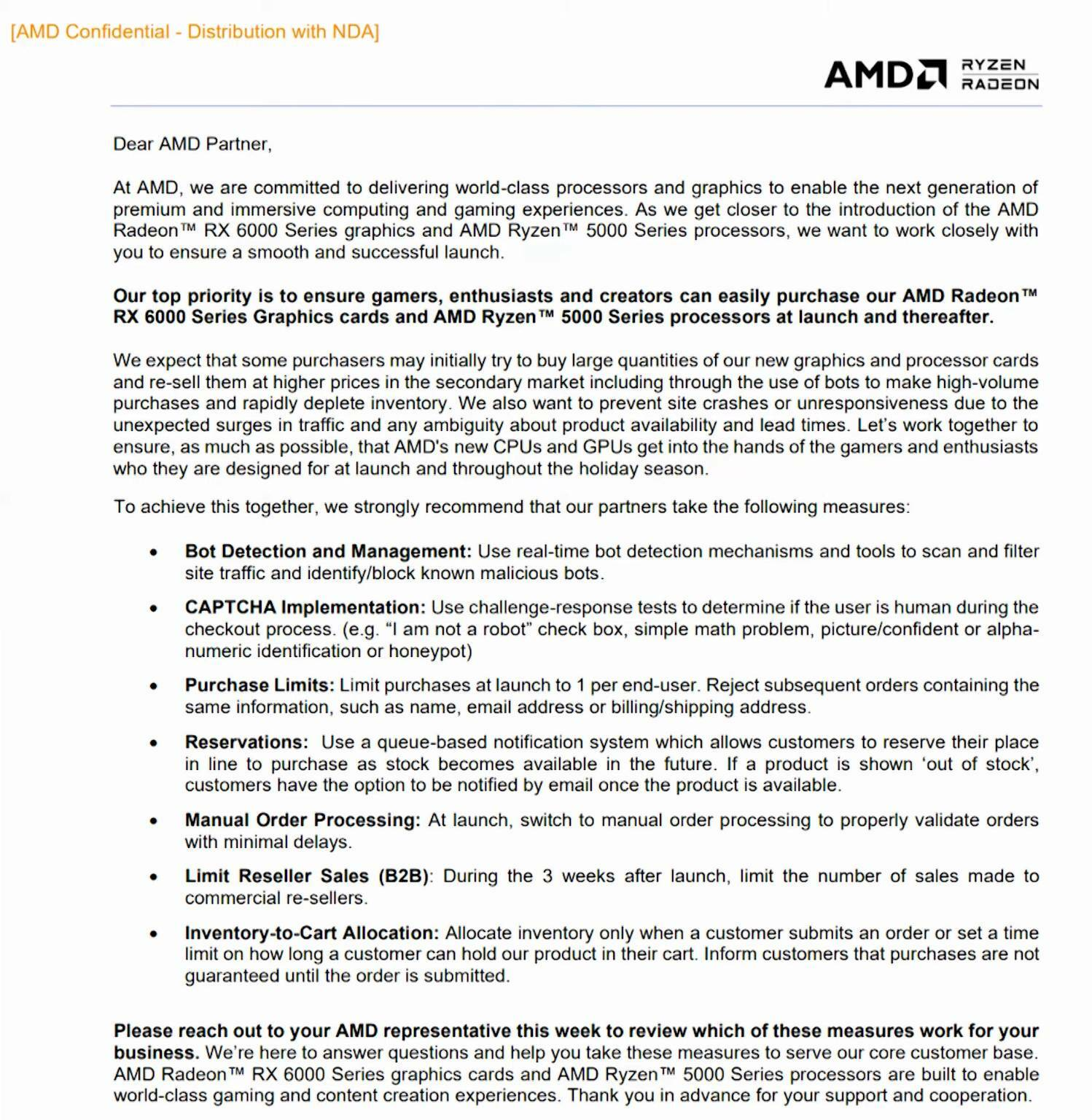 AMD anti-scalper
