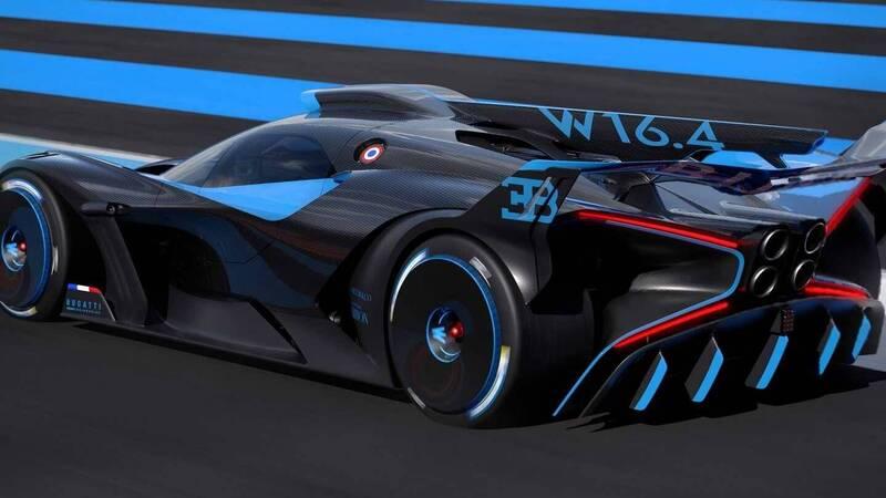Bugatti Bolide, a 500 km / h track concept