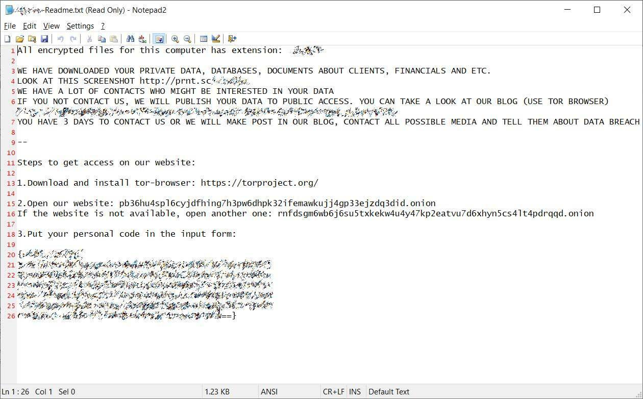 Enel Group Ransomware