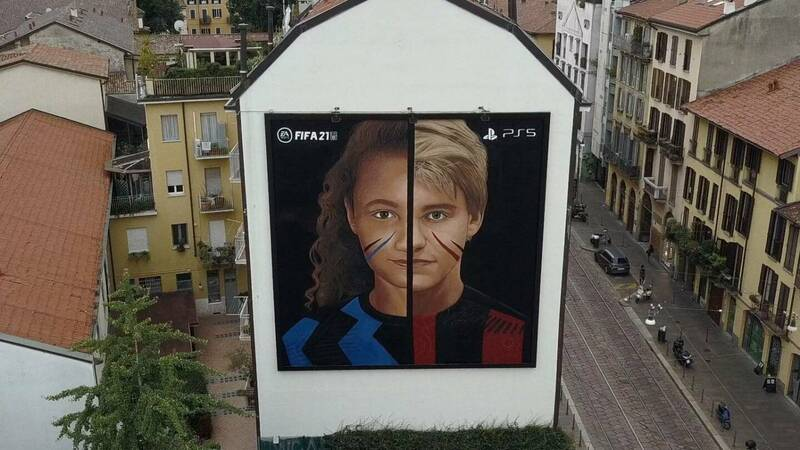 FIFA 21: Milan wakes up and discovers a new mural by Jorit