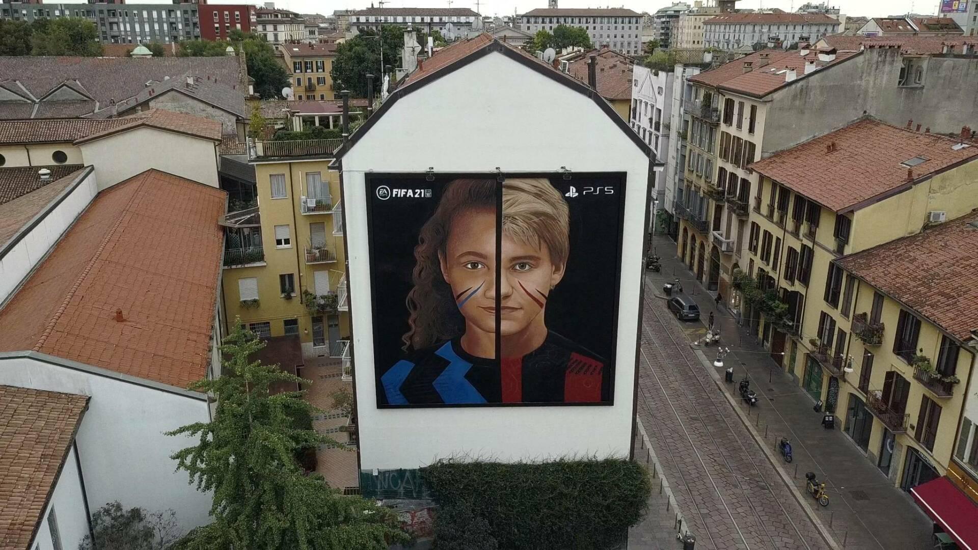 FIFA 21 murales milano jorit