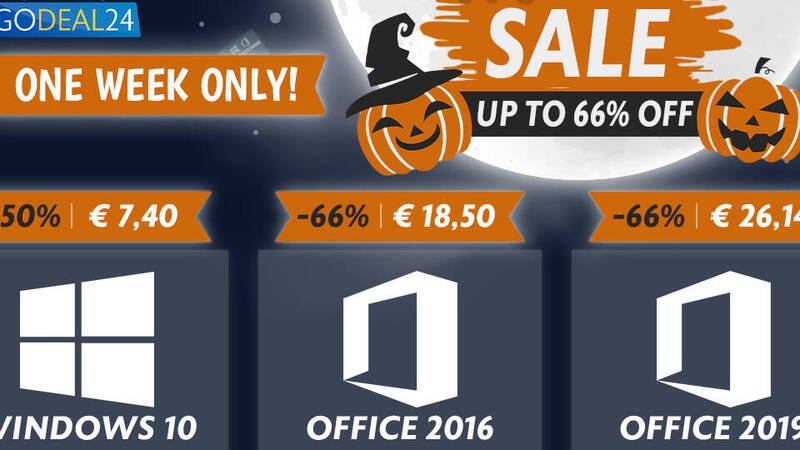 Windows 10 for only 6 €? The Halloween presale on GoDeal24.com