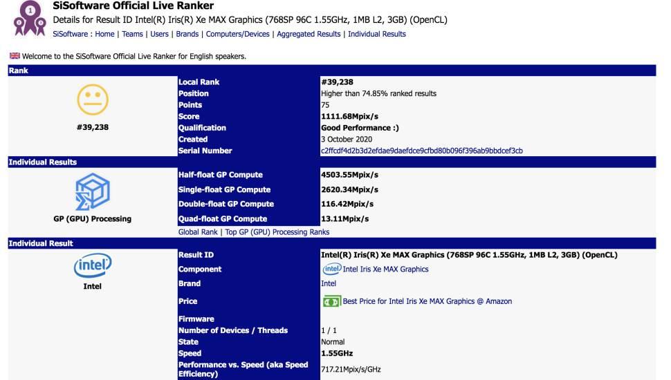 Intel Xe Max