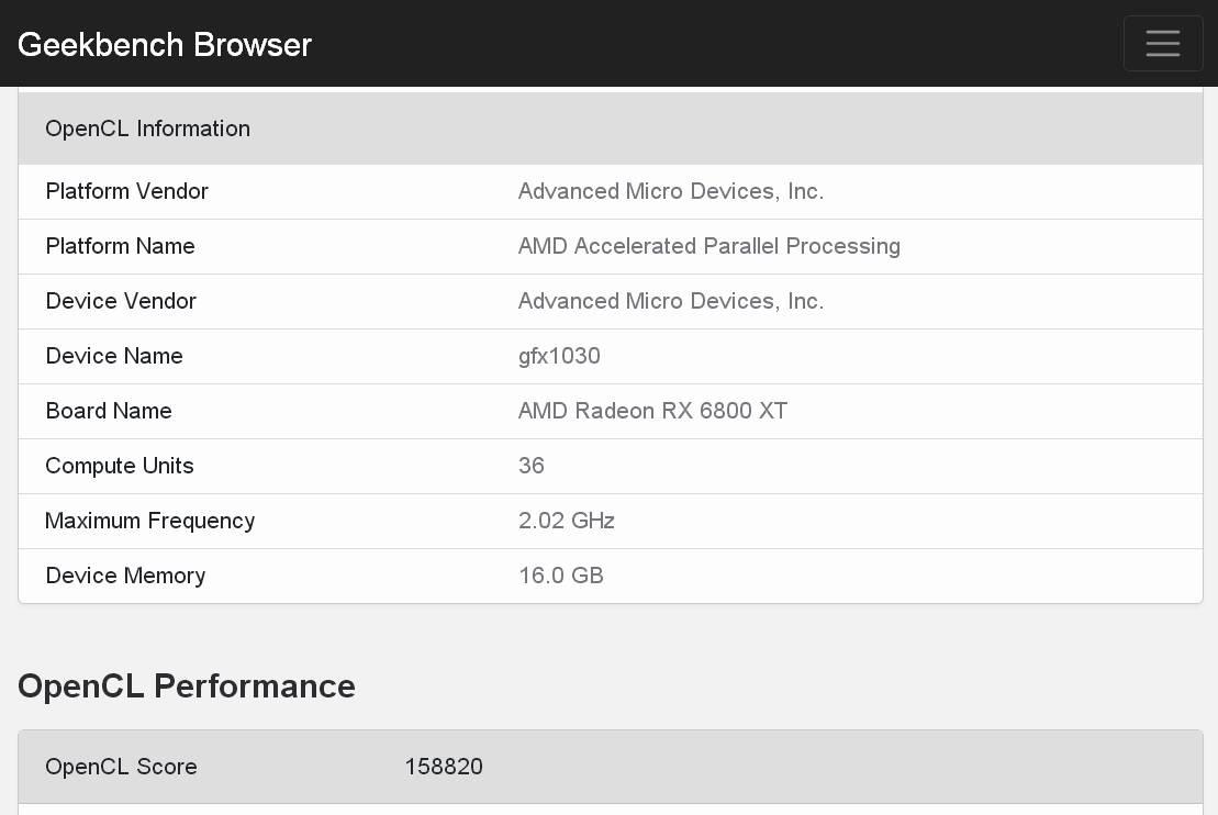 AMD Radeon RX 6800 XT leak benchmark