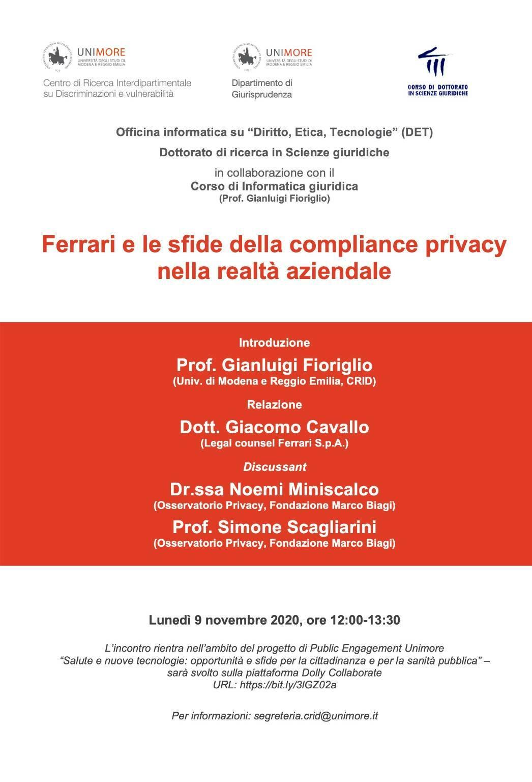 ferrari privacy seminario