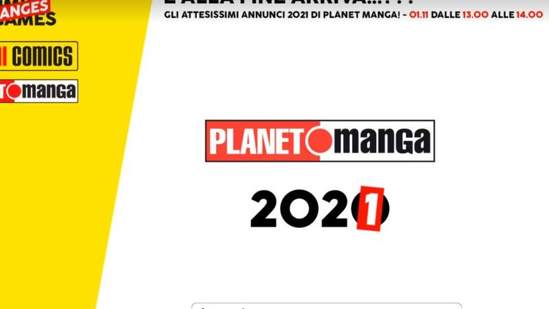 Lucca Changes: all the Planet Manga ads