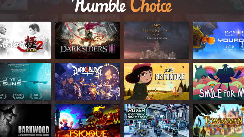 Humble Choice Premium: 45% discount on the annual subscription for Black Friday