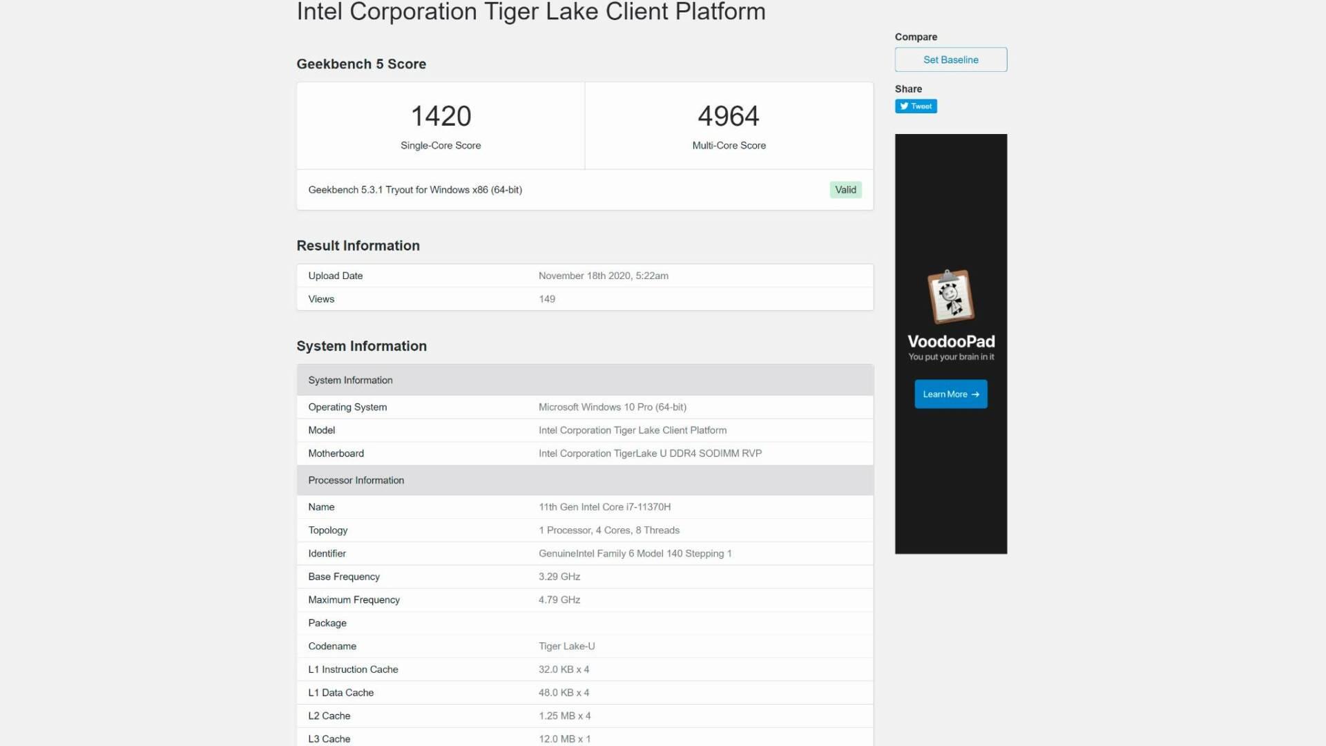 Intel Tiger Lake-H  AMD Ryzen 4000 Geekbench