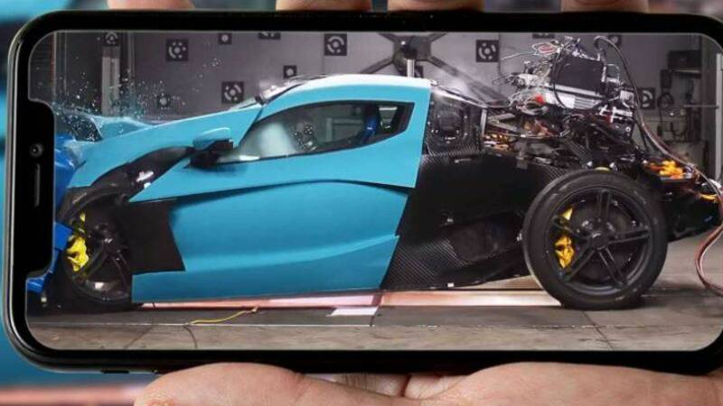 Rimac shows the C_Two crash tests: millions of dollars in pieces