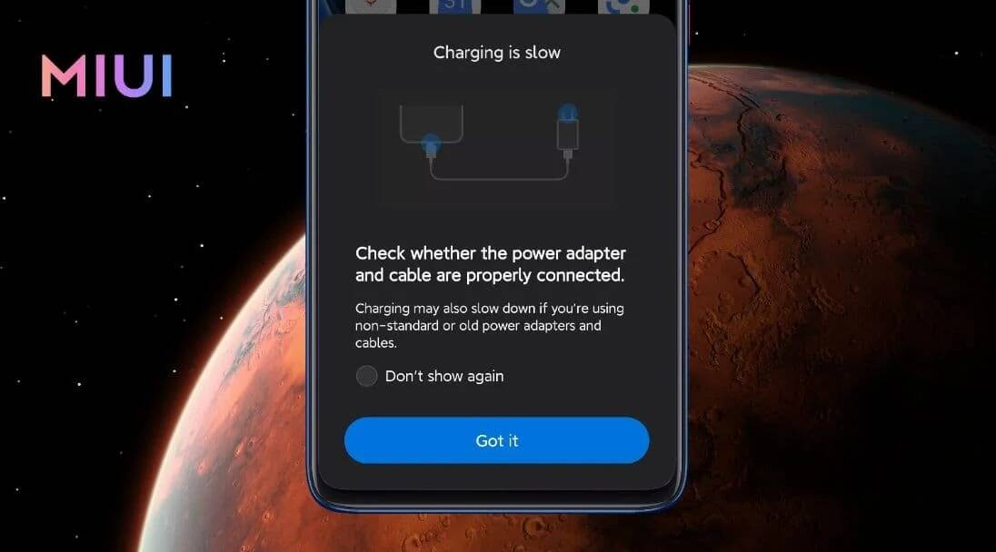 Xiaomi slow charge