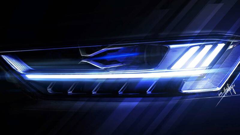 Audi: science fiction technology with OLED headlights capable of communicating