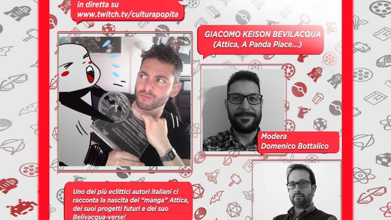 CulturaPOP presents: the comic and its authors - Giacomo Keison Bevilacqua