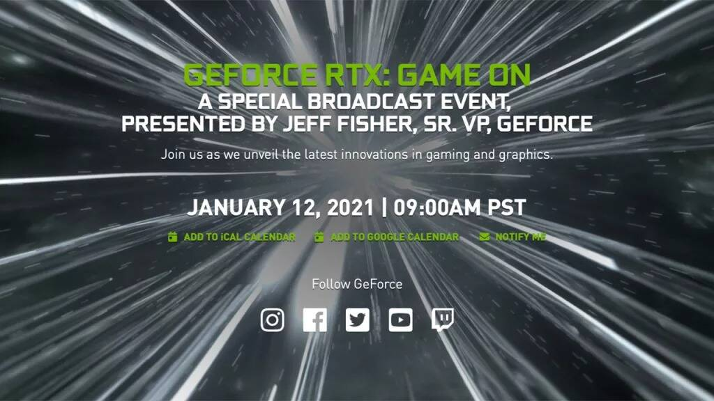 GeForce RTX: Game On Nvidia CES 2021