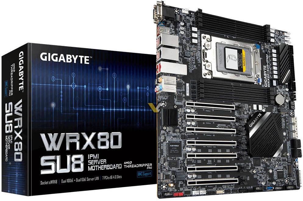 Gigabyte WRX80 SU8 IPMI Server Motherboard