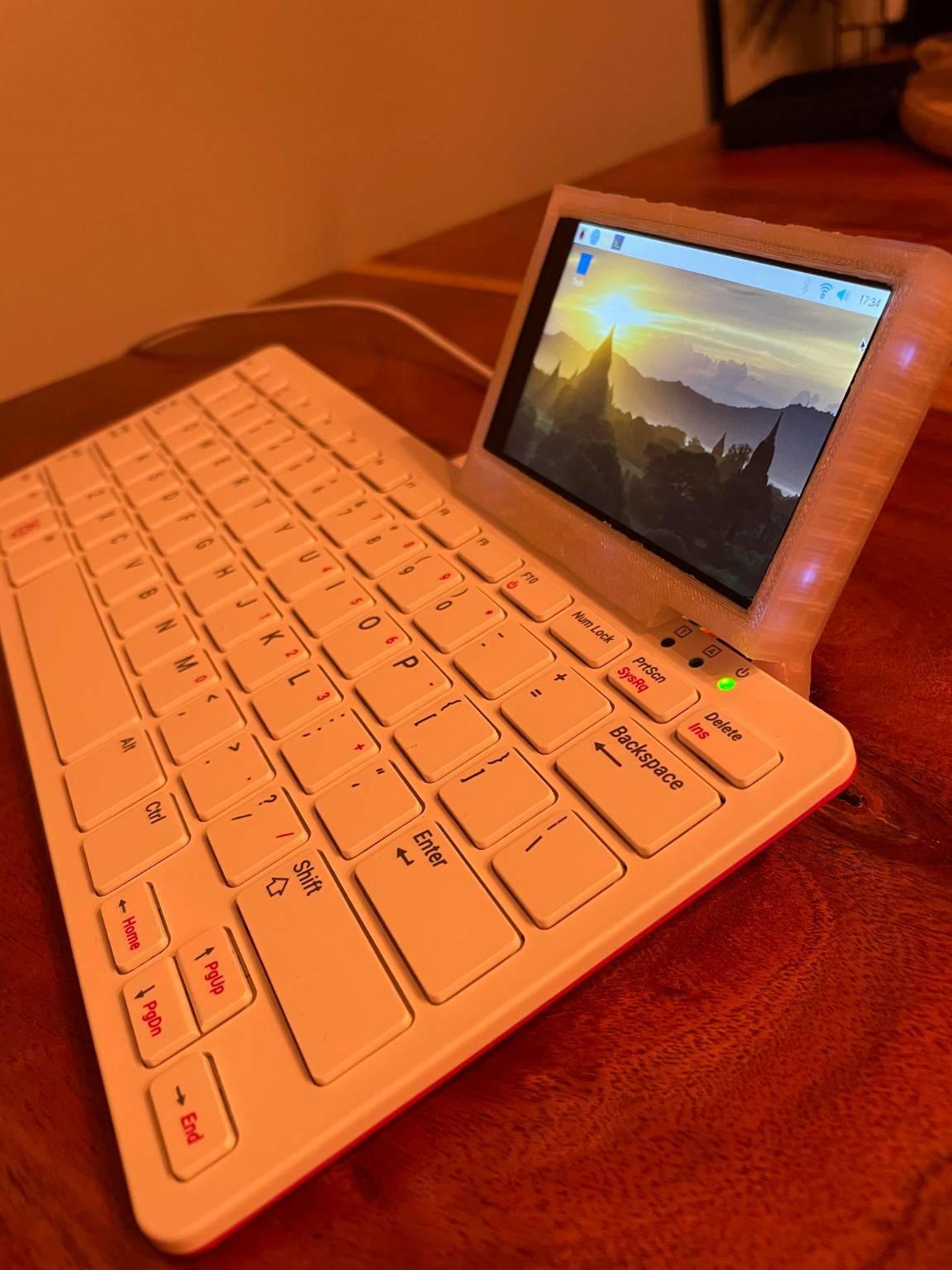 Raspberry Pi 400 mod touchscreen