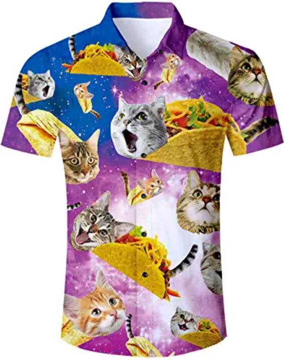camicia gatti tacos