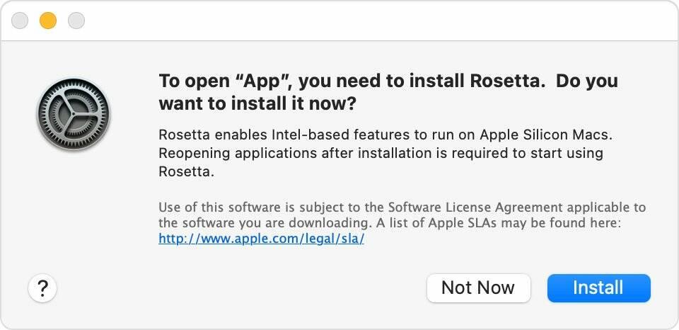 Rosetta 2 Apple Silicon Mac