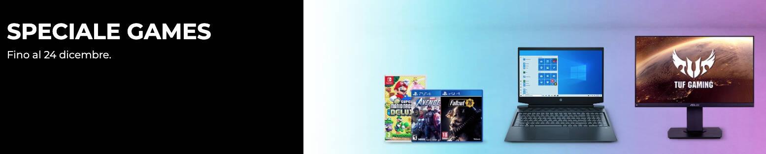 Speciali videogames unieuro banner