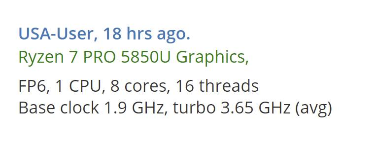 AMD Ryzen 5000 PRO Mobile leak