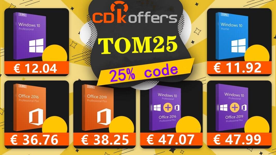 CDKoffers Windows 10 Home 12 eur