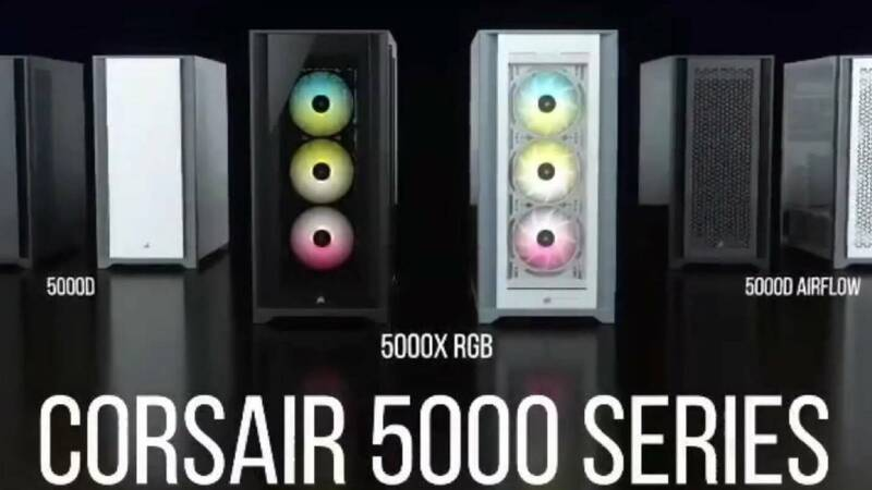 Corsair 5000 Series: space, elegance and excellent airflow for the new mid tower cases