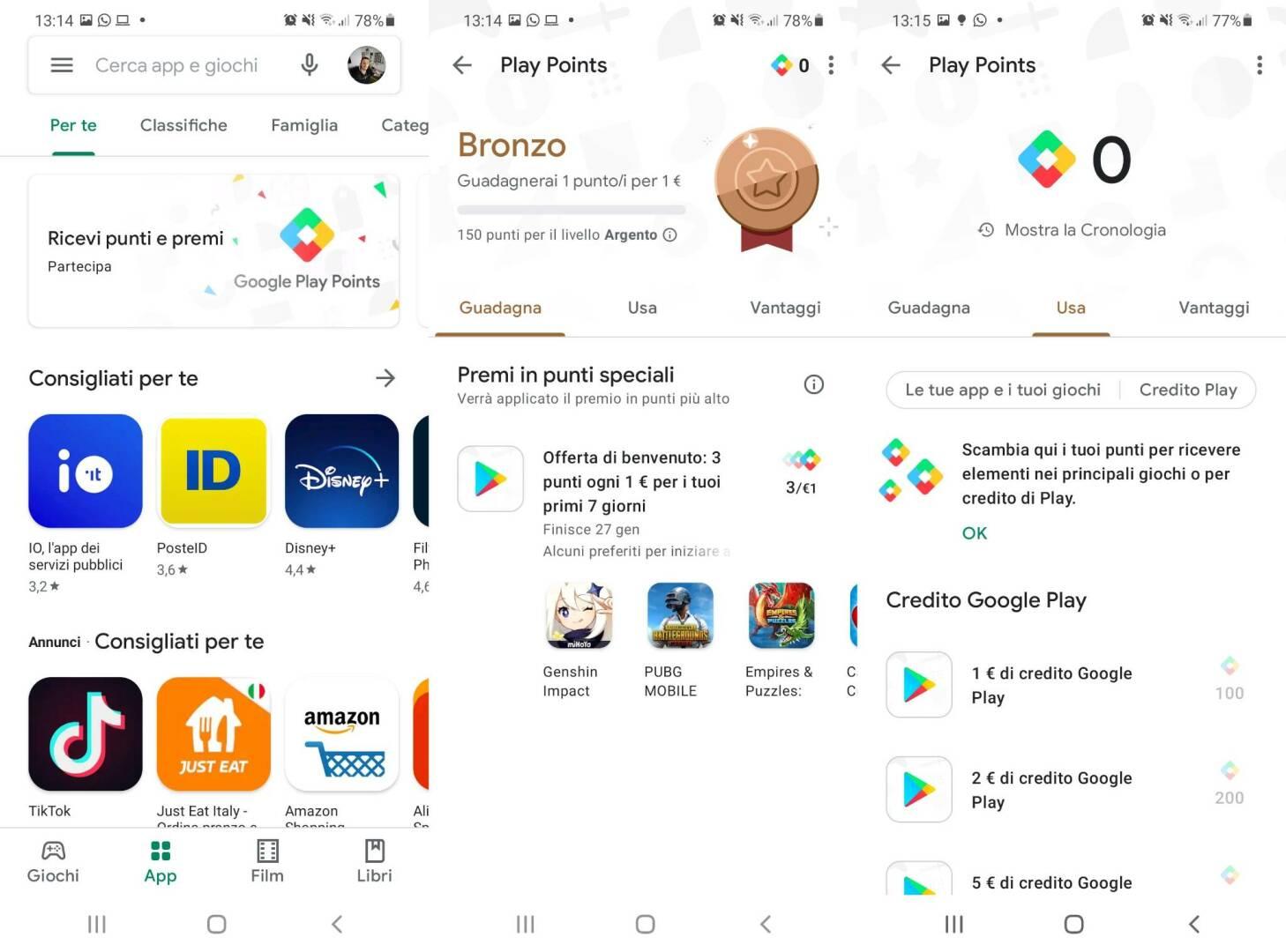 Google Play Points Italia