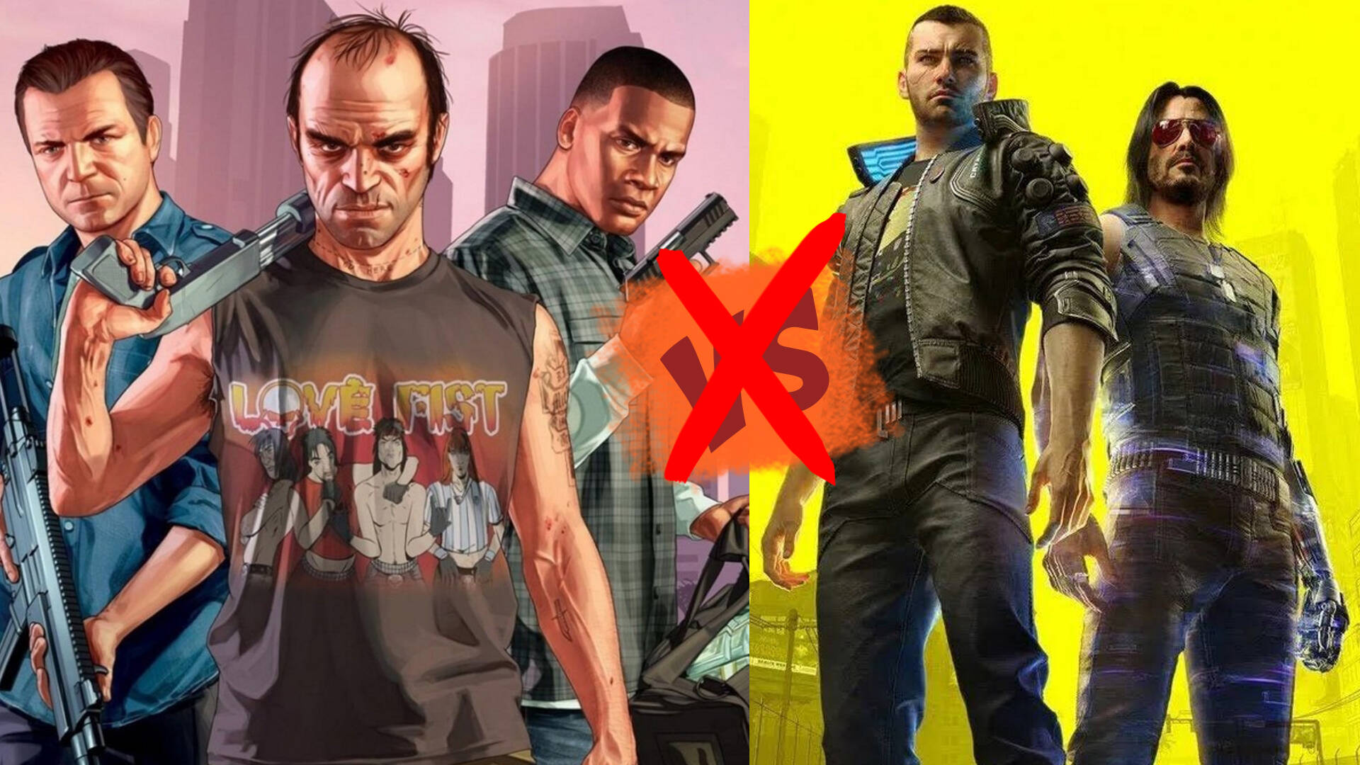 No Cyberpunk 2077 vs GTA V