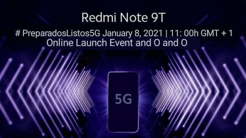 Redmi Note 9T 5G, official presentation date in Italy