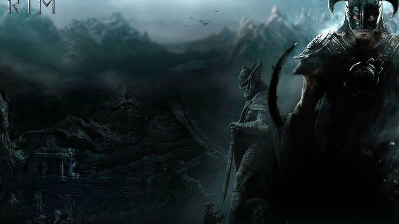 Skyrim: Giant rides a dragon, photographed a more unique than rare event