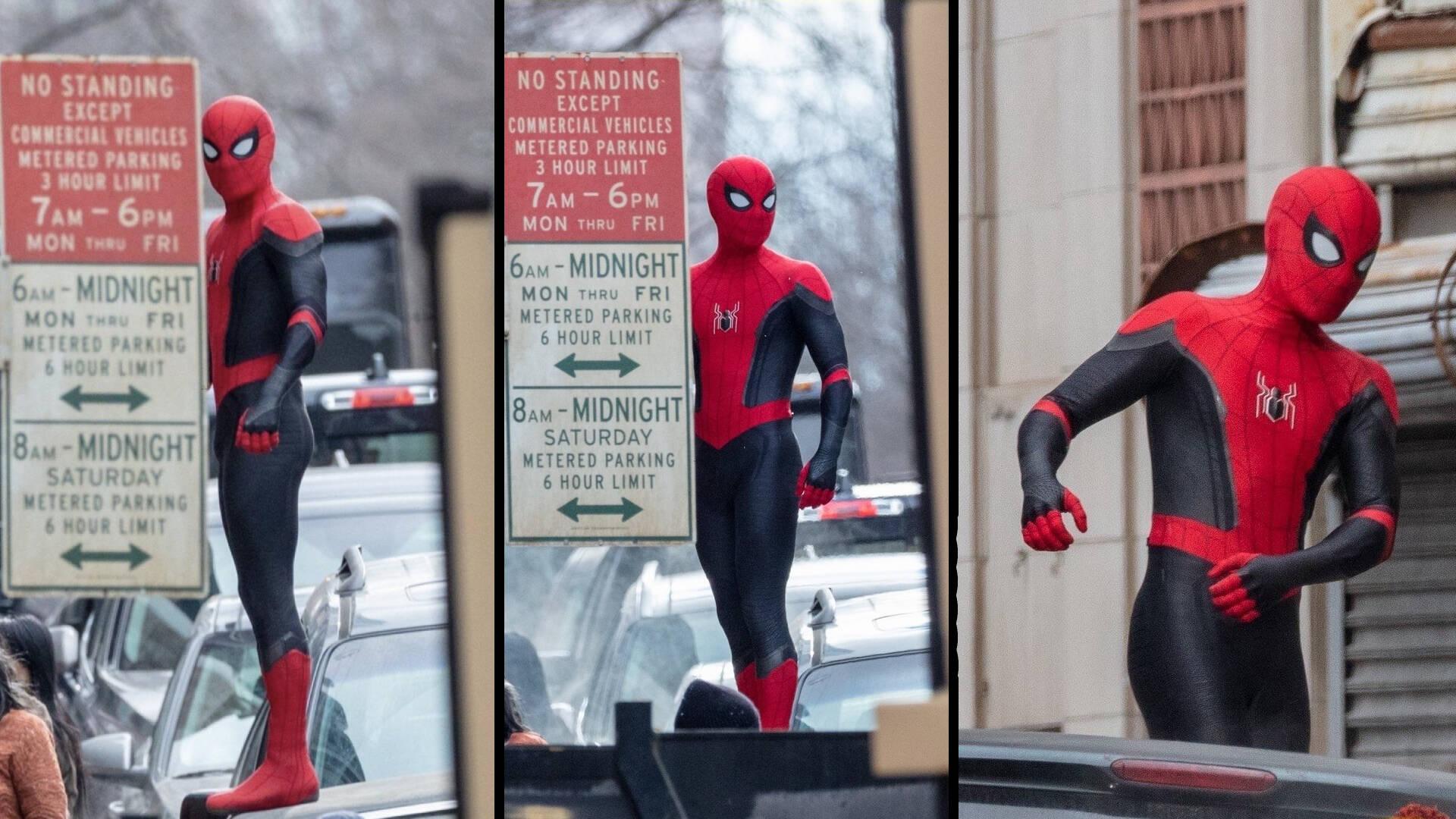 Risultato immagini per spider-man 3 set photos tom holland