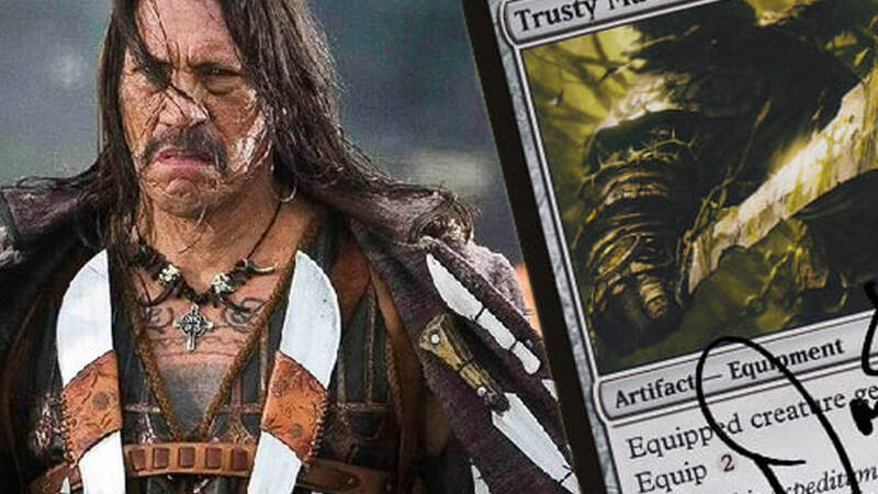 Available a Magic card signed by Danny Trejo