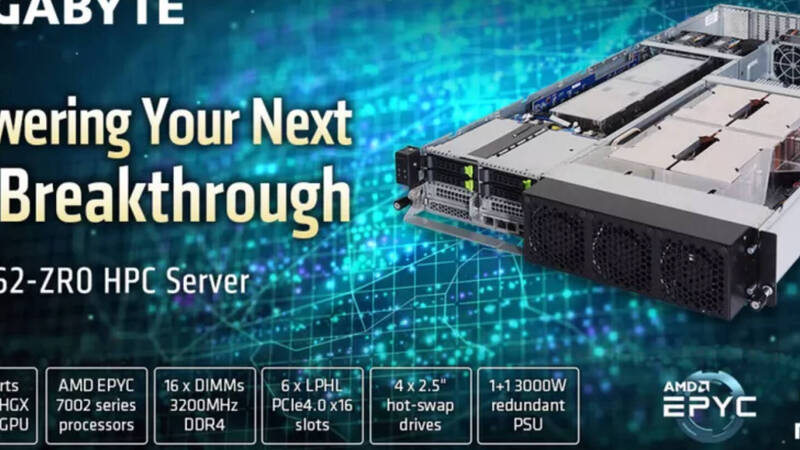 Gigabyte, here is its new server with AMD EPYC and NVIDIA A100