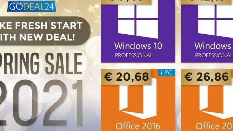 Windows 10 a 7€, Microsoft Office a 15 …