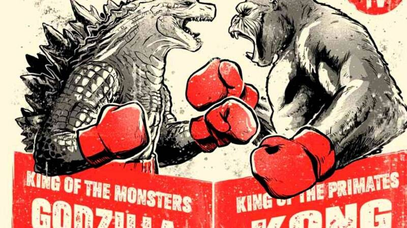 Godzilla Vs. Kong T-shirt exclusively for a few hours on TeeTee!