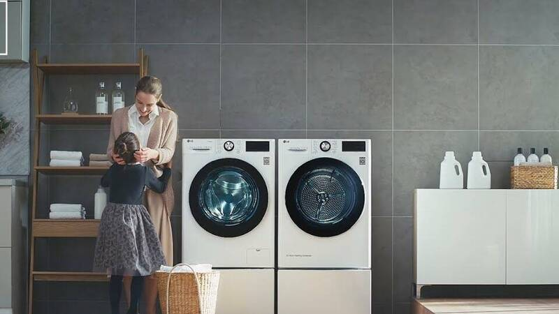 LG smart AI washing machines at half price only at Unieuro!