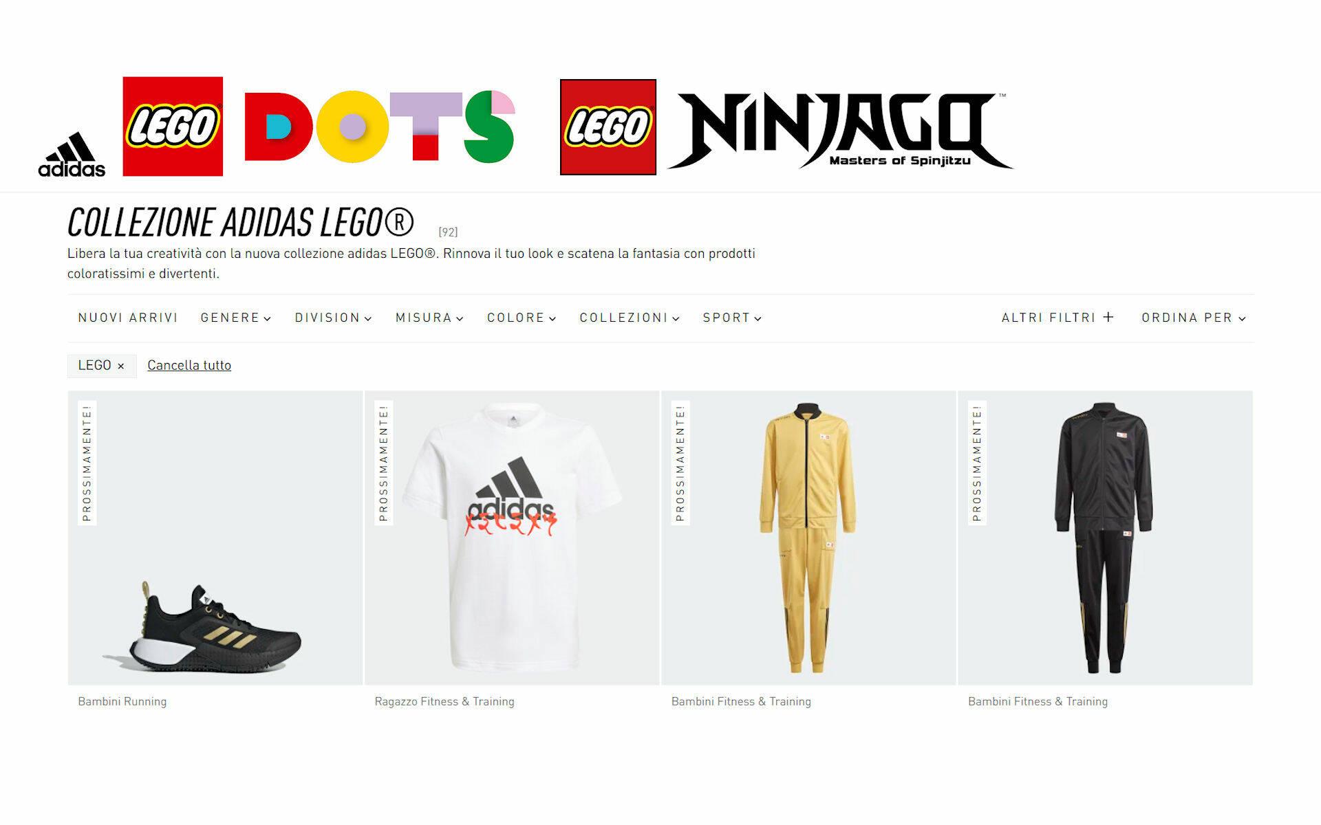 LEGO ADIDAS DOTS NINJAGO 2021