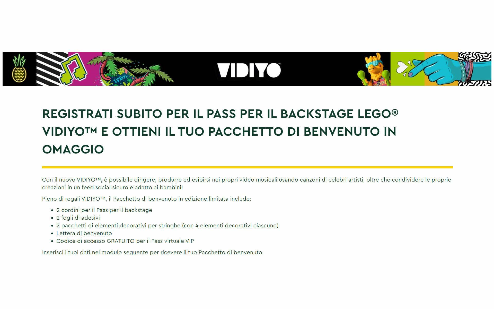 LEGO VIDIYO UFFICIALE