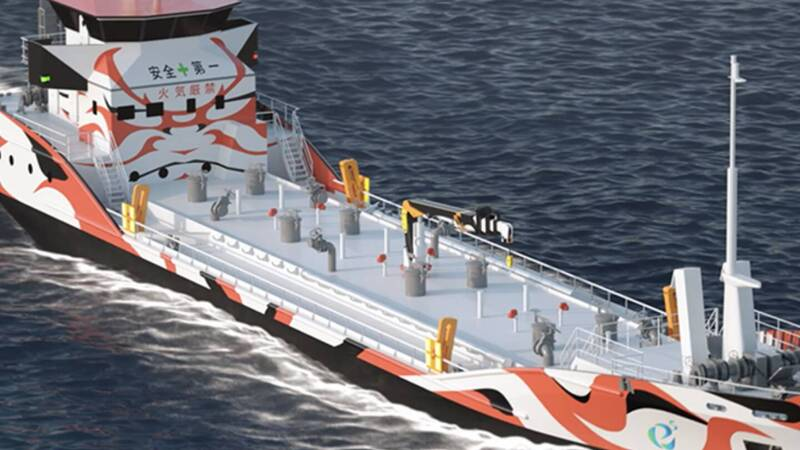 In Japan the first electric tanker, 3,500 kWh battery