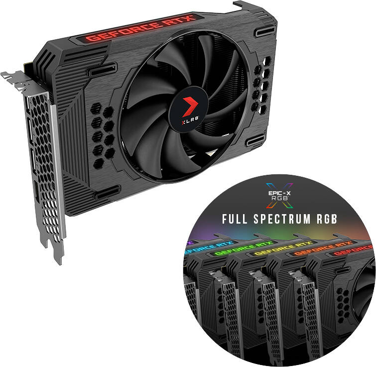 PNY GeForce RTX 3060 12GB XLR8 Gaming Revel Epic-X RGB Single Fan Edition