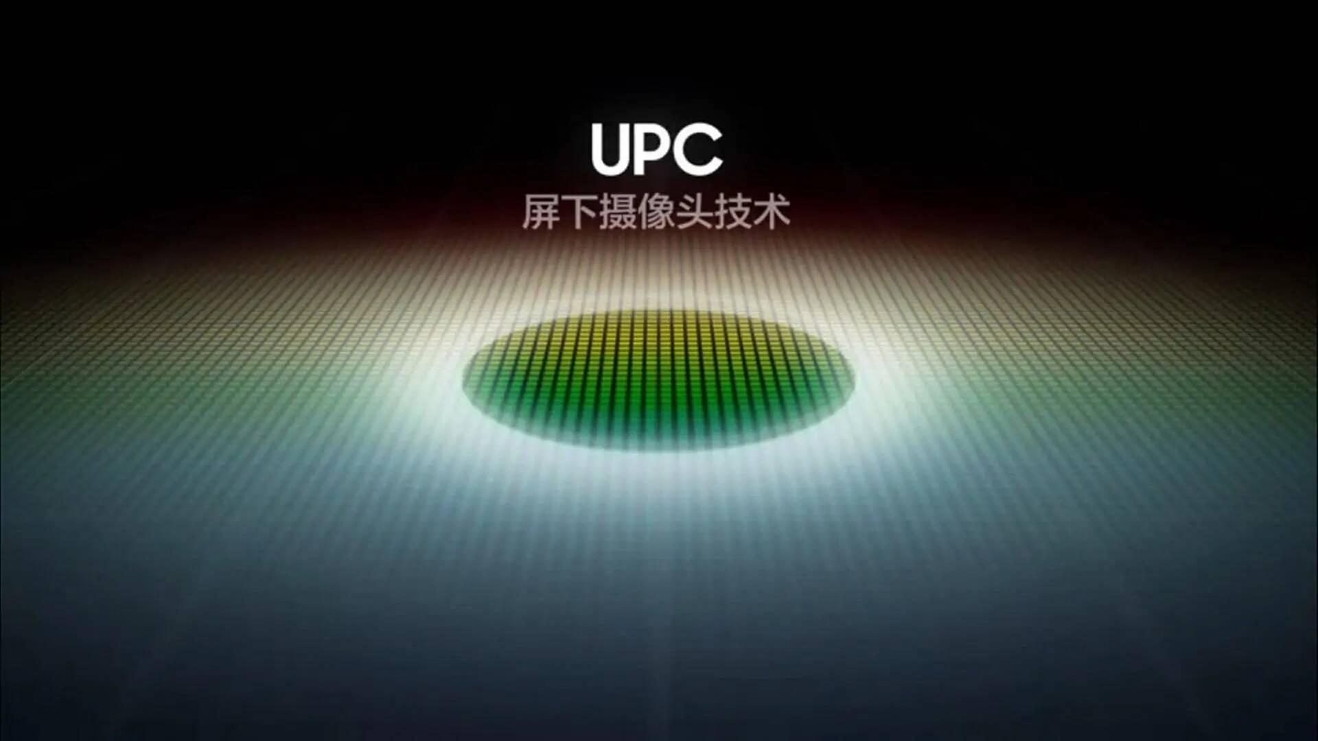 Samsung UPC fotocamera sotto display