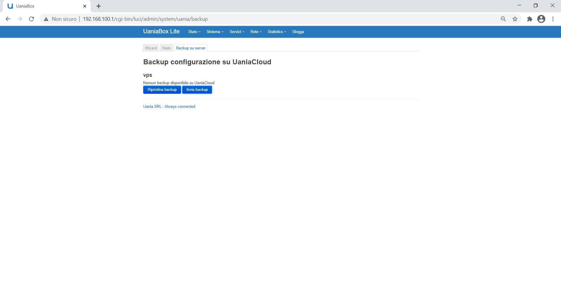 UaniaBox - Backup